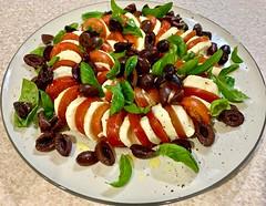 Caprese (simonmgc) Tags: basil caprese capri kalamata mozzarella oil olive pepper salad salt tomato