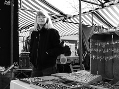 Street Market Stallholders (Bury Gardener) Tags: 2019 street streetcandids snaps strangers candid candids people peoplewatching folks england eastanglia uk britain fuji fujifilm fujixt3 ely bw blackandwhite monochrome mono