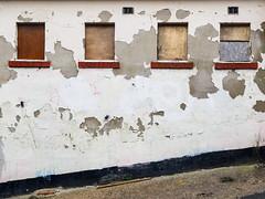 Four Boarded Up Windows (Peter.Bartlett) Tags: olympusomdem1 urban window uk m43 microfourthirds wall facade unitedkingdom huddersfield kirklees peterbartlett colour linthwaite england