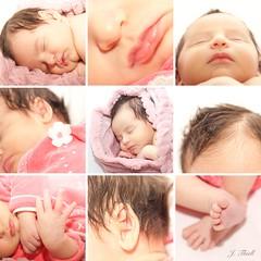 27/52 - Océane (m4mboo) Tags: 52 baby bébé birth bouche cheveux feet flower hair hand hands main mains mosaïque nez nose oceane océane pieds pink project rose sleep week