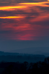 sunset near Thropton, Northumberland (Malcolm Hare Photography and Tuition) Tags: sunset color sky village north