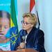 Ms Gillian Mellsop, UNICEF Representative to Ethiopia. Delivering Keynote speech on the program of unicef 65th Anniversary