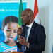 Siddig Ibrahim Chief of UNICEF Oromia Field office delivering Keynote speech on the program of unicef 65th Anniversary