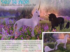 """Fable"" the Teeglepet Unicorn (teagerthehorse) Tags: secondlife unicorn horse fantasy faire equestrian animesh rideable pet"