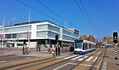 AfgeSloten 1 (Peter ( phonepics only) Eijkman) Tags: amsterdam city combino detour omleiding wegwerkzaamheden roadworks gvb tram transport trams tramtracks trolley rail rails strassenbahn streetcars nederland netherlands nederlandse noordholland holland