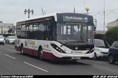 YX68 UJY (northwest85) Tags: compass bus yx68 ujy alexander dennis adl enviro 200mmc south ferring marine parade worthing yx68ujy 8