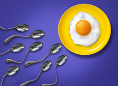 Egg and Spoon Race (neilhallphotos) Tags: egg spoons creative sperm