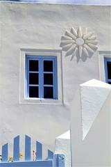 Il Blu di Santorini (mirella cotella) Tags: blue colors details architectures white island greece santorini village oia windows gate walls geometries