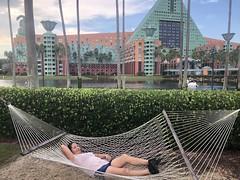 Nap time by the Dolphin Hotel in Disney World (Hazboy) Tags: dolphin 2018 september hotel disney florida selfie hazboy1 hazboy