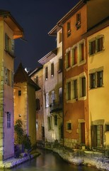 A piece of France (karinavera) Tags: city longexposure night photography cityscape urban ilcea7m2 sunset france annecy