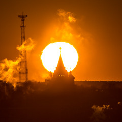 Rising. Izhevsk. View of St. Michael's Cathedral. (Lexiv V) Tags: ижевск восход утро собор храм