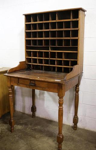 Oak desk with cubbies ($420.00)