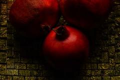 The Colours Of Pomegranates (Edmond Terakopian) Tags: pomegranate fruit closeup still life profoto rotolux productphotography red gold