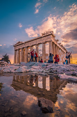 After the rain (Vagelis Pikoulas) Tags: acr architecture ancient view reflection reflections greece tokina 1628mm rocks rock canon 6d sky sun sunset clouds athens europe april spring 2019 travel