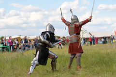 Backstab (petr.petrov) Tags: rural scene field summer sun festival show live event fun traditional historical humor russia historic cultural culture traditions russian warrior fight fighting