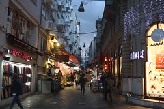 Istanbul Street Scene (lazy south's travels) Tags: beyoglu district galata istanbul turkey turkish road street scene dark dusk candid istiklal