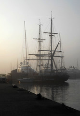 "T.S. ""Royalist""  Poole   170419 (chrisdpyrah) Tags: training ship poole misty morning sailing royalist vessel sail"