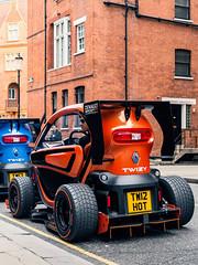 Tweezy Sport (Mattia Manzini Photography) Tags: renault tweezy sport supercar supercars cars car carspotting nikon automotive automobili auto automobile uk england london knightsbridge orange racecar spoiler