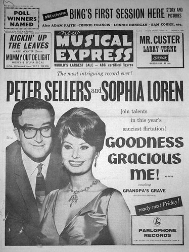 60-1021-01 - Peter Sellers & Sophia Loren - 'Goodness Gracious Me' on Parlophone records (NME 21st October 1960)