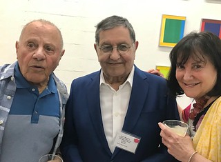 Lou Appignani, collector and developer Marty Margulies and Laurie Pallot at the Lotus House fundraiser.