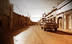 Oaxaca sepia street shot (Harry Szpilmann) Tags: oaxaca streetphotography ford pickup vintage car people mexique sepia mexico