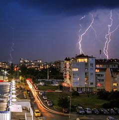 Storm in Bulgaria (Sebastian Pier Filip) Tags: canon g16 compact pointandshoot pointnshoot ndfilter longexposure lightning lighttrails sofia bulgaria sky storm landscape night nightshot 60seconds f8 tripod
