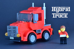 Hybrid Truck 01 (_TLG_) Tags: lego moc duplo truck trailer red car speed champions 6 stud lorry studless transporter 6stud