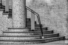 tessellation (Blende1.8) Tags: stairs staircase stairway interior details pattern muster mosaik tesselation säule column steps stufen treppe aufgang monochrome mono monochrom schwarzweiss blackandwhite black white architecture bruxelles brussels brüssel europe europa architektur innenraum belgium belgien