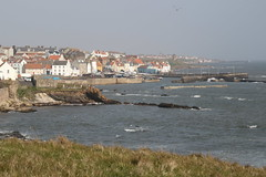 St Monans, Fife, Scotland (Paul Emma) Tags: uk scotland fife stmonans beach coast sea harbour boat newarkcastle castle ruins