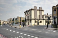 Amersham Arms, New Cross, March 2019 (marktandy) Tags: amershamarms newcross london newcrossrod pub bar venue live entertainment publichouse street road trafficlights takecourage