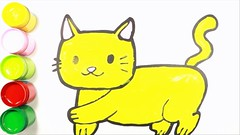 Learn color & draw with cat | Kid color cat painting (I_Am A Kid) Tags: im kid learning channel fun learn kids time royalty free