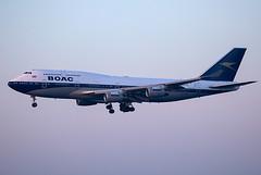 G-BYGC // British Airways // BOAC // B747-436 // Heathrow (SimonNicholls27) Tags: gbygc boac boeing747400 b747436 retro britishairways ba lhr egll