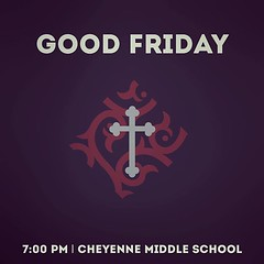 Join us this evening at 7:00 pm at Cheyenne Middle School for a time of reflection as we read through the story of Jesus going to the cross. #goodfriday (rcokc) Tags: join us this evening 700 pm cheyenne middle school for time reflection we read through story jesus going cross goodfriday