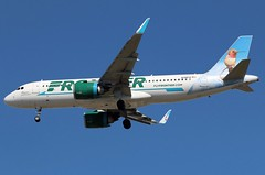 FRONTIER A320-251N at KCLE (GeorgeM757) Tags: frontier a320251neo aircraft aviation airplane airport airbus kcle georgem757 landing canon70d