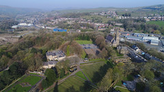 Stubylee Park (North Ports) Tags: st saint saviour saviours church bacup new line stubbylee stubby lee rossendale lancashire derelict vandalised old building former place worship diocese manchester stacksteads aerial dji phantom park