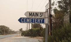 Is Main St. a dead end? (Runabout63) Tags: main street owen southaustralia cemetery