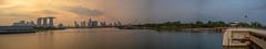 Marina Bay in Panorama (Thanathip Moolvong) Tags: marinabay singapore sg panorama barrage evening