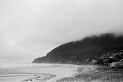 Neahkahnie Mountain (jwbeatty) Tags: smcpm28mmf28 35mm 35mmphotography analog analogphotography bw beach blackwhite blackwhitefilm blackandwhite clouds film filmphotography fog hp5 ilford ilfordhp5plus manzanita manzanitabeach neahkahniebeach neahkahniemountain ocean oregon oregoncoast pacificnorthwest pacificocean pentax pentaxart pentaxmesuper water
