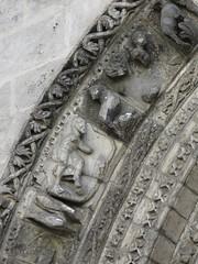 Eglise Saint-Léger (XIIe-XVIe), Cognac (16) (Yvette G.) Tags: cognac 16 charente poitoucharentes nouvelleaquitaine artroman architecture église sculpture