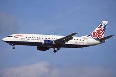 G-DOCG Gatwick 9-10-1998 (Plane Buddy) Tags: gdocg boeing 737 ba britishairways lgw gatwick