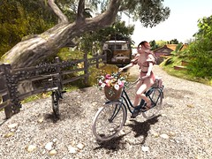 Pushbike Song (~*Valerian*~) Tags: secondlife maitreya avatar genus fd dustbunny prtty pinkfuel friday