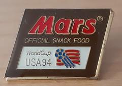 1994 World Cup - Mars sponsor badge (1971rob1) Tags: mars