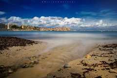 Living in this way. (Emykla) Tags: antibes cotedazur francia france mare sea spiaggia beach sabbia sand acqua water castello castle nuvole clouds panoramio nikond3100 teal blu blue