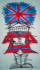 Are You Inspired (JayDeWinne) Tags: beefeaterart illustration coventgarden london england unionjack areyouinspired red blue flag artistic graphic british