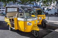 Tuk Tuk Lisbon, Portugal (Bela Lindtner) Tags: lisbon lisboaregion portugal belalindtner lindtnerbéla nikon d7100 nikond7100 nikkor 18105 nikkor18105 nikon18105 lisboa lisbonregion lisszabon portugália tuktuk vehicle outdoor outside yellow