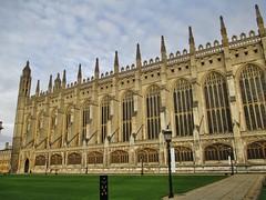 Photo of King's College Chapel, Cambridge, England.