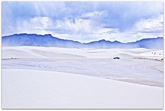 White Car At White Sands (2bmolar ~ Off for awhile!) Tags: hcs clichesaturday cliche whitesands