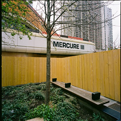 Mercure III , Beaugrenelle, Paris (Hasselblad SWC) (Guy Baylacq) Tags: swc hasselblad biogon 38mm 120