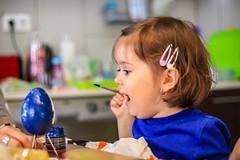 Easter Egg Maker (gabormatesz) Tags: portrait littlegirl girl photography canon eastereasereggeggs painting 50mm