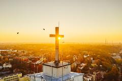 Birds | Kaunas aerial (A. Aleksandravičius) Tags: prisikėlimo bažnyčia